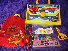 5pc SET Anpanman Friends Playtime Bag, Case Holder,Drum ,Toot Toot Noise Maker
