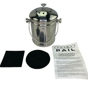 Endurance Stainless Steel Counter Compost Pail