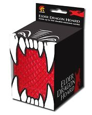 120ct Tokens and Sleeves 2 d10 Dice Red Elder Dragon Vault Card Storage Box
