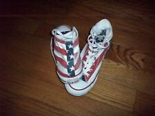 Converse Red White & Blue American Flag High Top Sneakers Men's 8 Women's 10