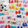 Wholesale 10-100pcs Multicolor Mix Pet Dog Hair Bow Pearl Flowers Rubber Bands