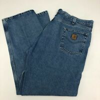 Carhartt Denim Jeans Mens 42 Blue Straight Leg Medium Wash 5 Pockets Design