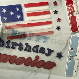 American Themed Window Gel Cling Independence Day Memorial Day Decorations