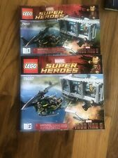 Lego Dc Universe Super Heroes 76007 Instructions-Direction Book Manual 1 & 2