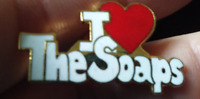The Soaps Heart pin badge