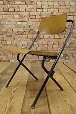 Vintage Stuhl Holz Klappstuhl 50er Theaterstuhl Art Deco 30er DRABERT Stahlrohr