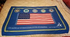 "American Veterans Disabled For Life Memorial Soft Warm Throw Blanket 48"" x 35"""