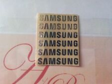 6pcs/lot metal coloured stickers For Samsung 3mmx25mm