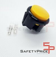 Pulsador Arcade 30mm Amarillo faston Jamma Push button Bartop Raspberry SP