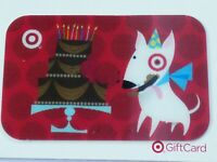 Target Gift Card Lenticular Bullseye Dog Birthday Cake - On Backing - No Value