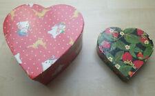 Geschenksboxen - Weihnachts- Blumenmotiv - in Herzform - leer - 2 Stück