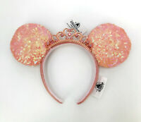 Minnie Mouse Disney Parks Ears 2021 Pink Sequin Party Bow Princess Crown Tiara
