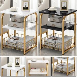 3Tier Sofa Side End Tea Coffee Table Shelf Console Tray Storage Rack Living Room
