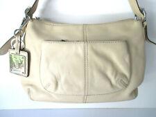 Tignanello Handbag Purse Beige Adjustable Strap & Zipper Close