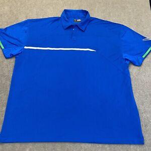 Callaway Polo Shirt Adult 4XL XXXXL Blue Lightweight Golf Casual Men's Rugby
