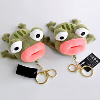 BIG MOUTH FROG PLUSH DOLL HANGING BAG PENDANT KEYCHAIN KEY RING LOVELY DECOR