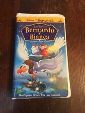 Disney Bernardo y Bianca The Rescuers VHS Spanish Español Play Tested