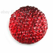 60x Nice Rhinestones Red Sew-on Flatback Embellishment Buttons Findings Fit DIY