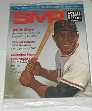 Sealed SMR Willie Mays San Francisco Giant Official PSA DNA Price Guide Magazine