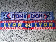 lotto 2 sciarpe OLYMPIQUE LYONNAIS FC club football calcio scarf echarpe lot e