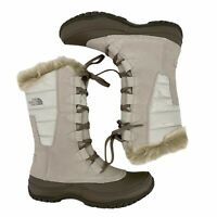 The North Face Nuptse Purna Ivory Moonlight Faux Fur Cuff Boots Womens Size 8
