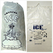 10 LBs / LB Plastic Ice Bags Bag with Drawstring 100 PCs Free Shipping NEW