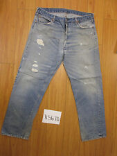 Vintage 1980s Levi transitional Black Bar Usa jean tag unclear meas 36x30 V5670