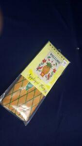 "Evergreen Applique House Flag 28x44"" Pineapple Heartfelt Welcome NEW Sealed"