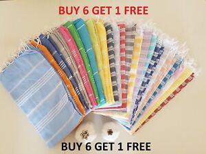 2 X Turkish Hammam Peshtemal Pestemal %100 Cotton Bath Towel Spa Gym Yoga Beach