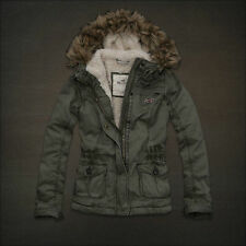 Hollister Women's Parka Jacket / outwear by Abercrombie Fitch Large