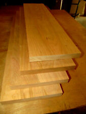 4 Pieces Kiln Dried 4/4 Fas Finished S4S Cherry Lumber Wood 24 X 6 X 3/4""