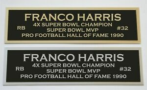 Franco Harris nameplate for signed jersey football helmet or photo