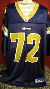 Chris Long St. Louis Rams Reebok On Field Reebok Size XL #72 NFL Jersey