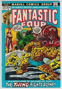 Fantastic Four #127 VF 8.0 The Thing Fights Alone John Buscema Art!