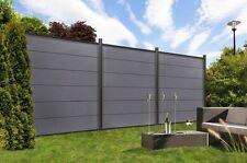 Komplett-Set für 9,09 Meter WPC Steckzaun Sichtschutz Zaun XL Farbe anthrazit