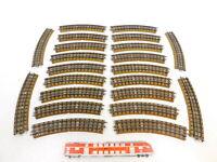 CD866-2# 22x Märklin H0/00/AC Gleisstück (M-Gleis) Hohlprofil für 3600/800
