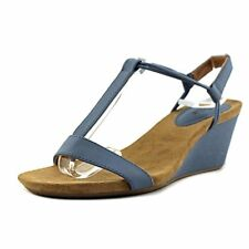 Style & Co Women Vintage Jeans Wedge Strappy Sandal Size 9