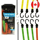 SmartStraps Bungee Cords (10pc Value Pack) – Secure Luggage, Coolers and Other