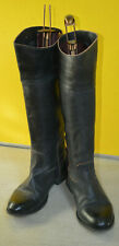 n.d.c. MADE BY HAND GERDA Women's Black Leather Riding Boots 37 made in Spain