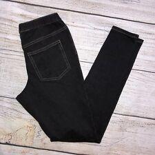 HUE Pull On Jegging Size XS Stretch Legging Jeans Skinny Dark Wash