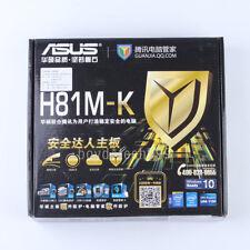 NEW ASUS H81M-K Motherboard LGA 1150 Intel H81 DDR3 DVI VGA USB3.0 tested!!!