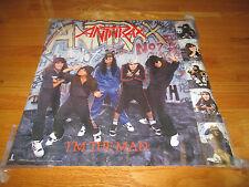 "1987 Anthrax ""I 'M The Man"" Poster Scott Ian Joey Belladonna Scott Bello"