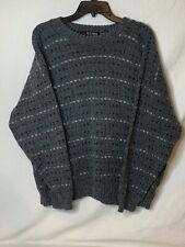 Sacndia Mens XL Smoke Gray Made In The U.S.A. Crew Neck Sweater