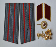 USSR Army shoulder straps Russian military Uniform Cockade button collar tabs