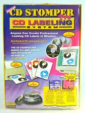 New CD Stomper Pro CD Label Design Applicator System Kit PC Mac Software Sealed