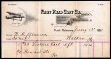 1891 Flint Road Cart Co - Michigan - W C Durant First Company  Letter Head Rare
