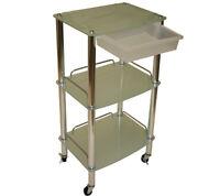 New 3 Shelf Glass Cart Trolley Doctor Dentist Medical Trolly Spa Salon Equipment