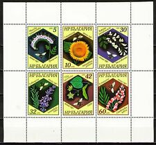Bulgaria 1987 Sc3271a Mi3582-87  1 MS  mnh  Bees and Plants