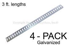 E Track - 3 ft. Horizontal / Trailer Tiedown - Galvanized 4 Pieces