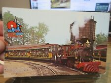 Vintage Old OHIO Postcard Sandusky Cedar Point Amusement Park Railroad Train RR